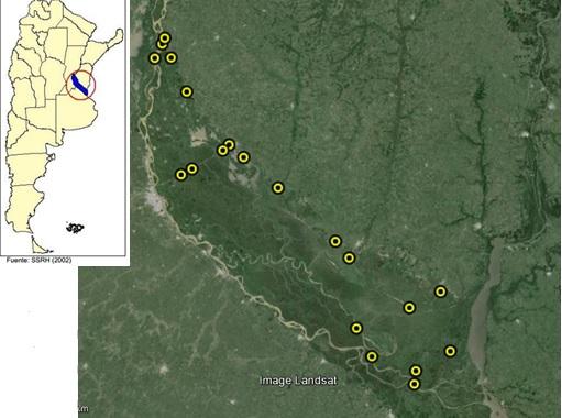 mapa muestreo p y calidad de agua